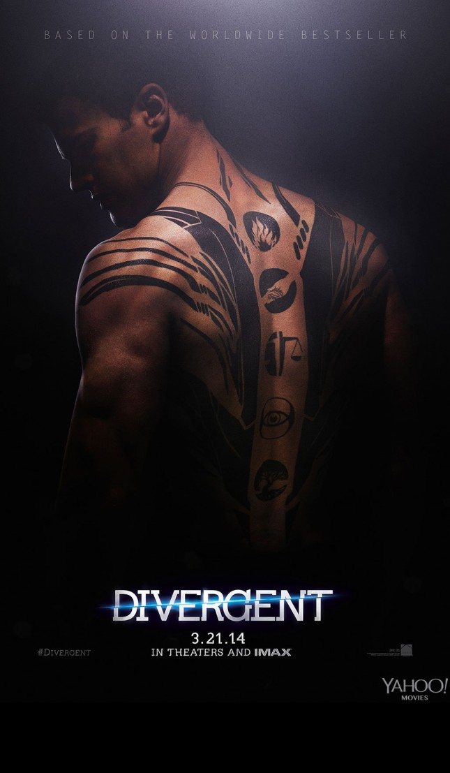 theo james divergente poster