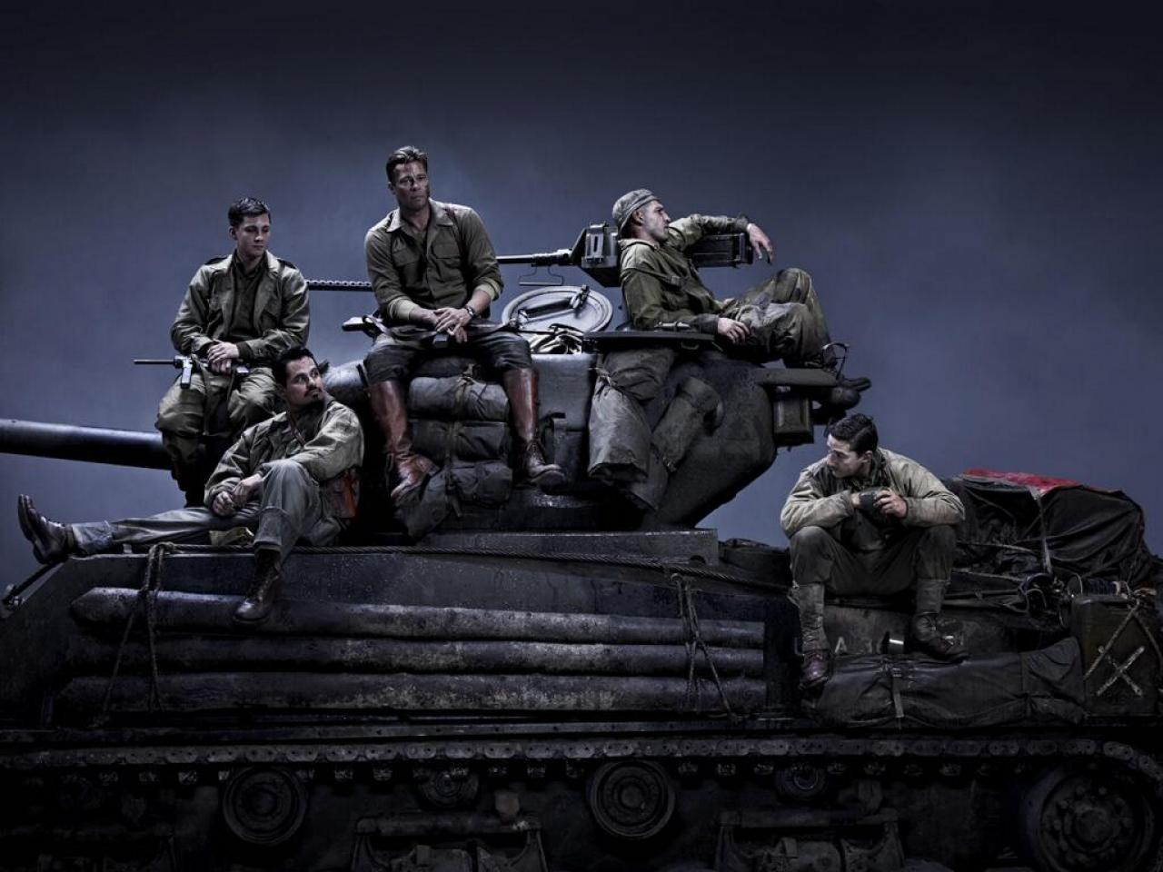 Fury brad pitt logan lerman