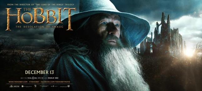 gandalf ian mckellen banner hobbit desolacion smaug