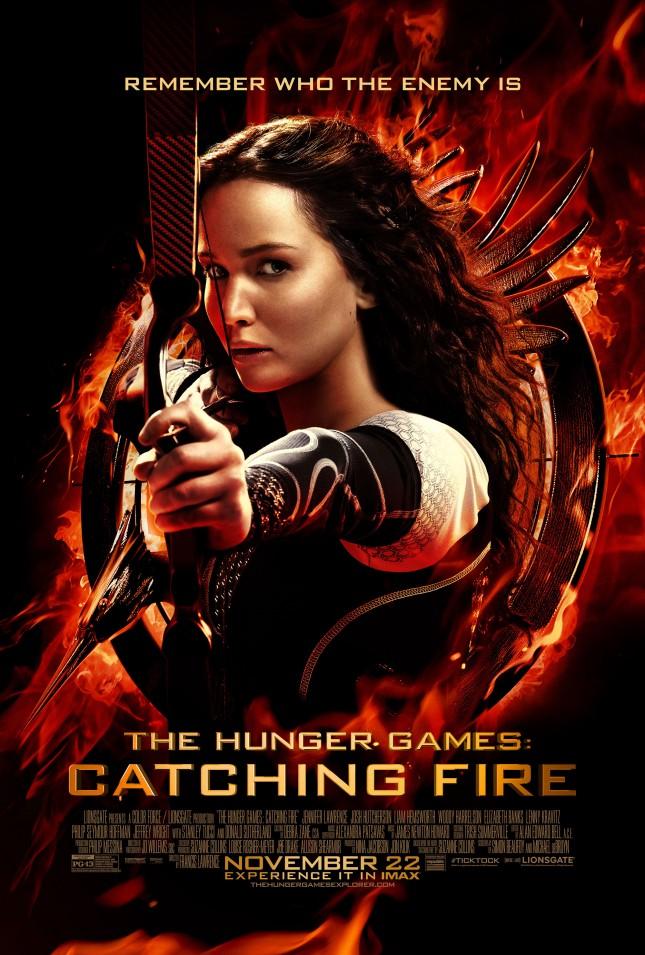 katniss everdeen poster los juegos del hambre en llamas jennifer lawrence