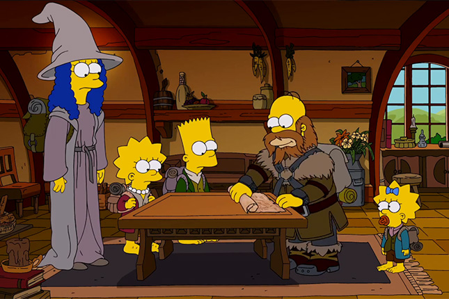 parodia hobbit los simpsons