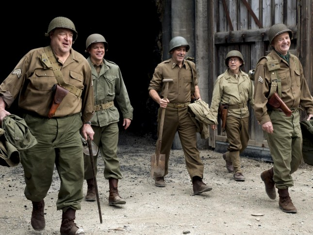 the monuments men george clooney bill murray john goodman