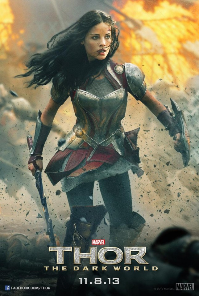thor mundo oscuro poster lady sif