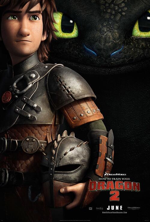 como entrenar a tu dragon 2 poster oficial