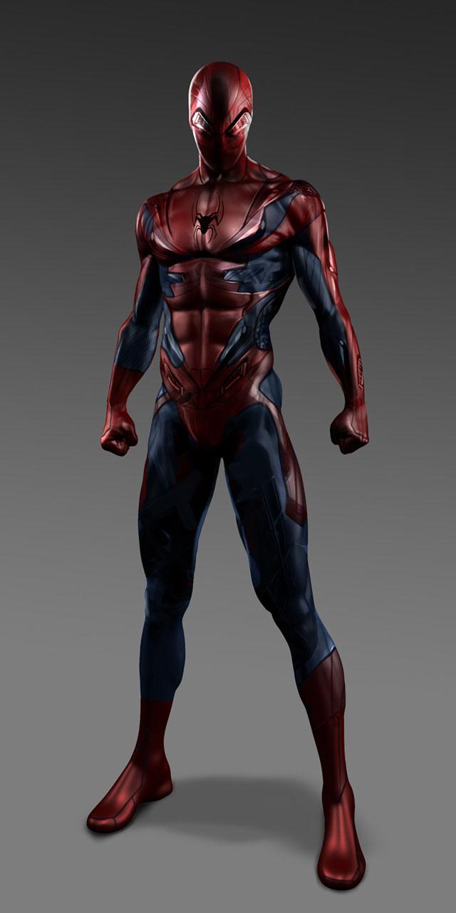 traje no usado sorprendente hombre araña 2