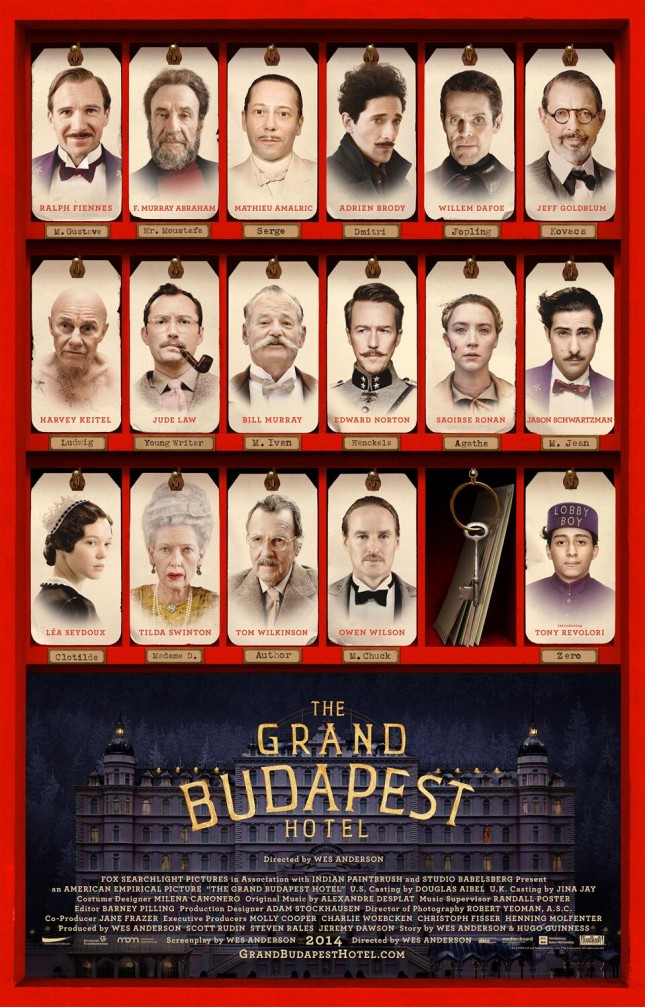 the grand budapest hotel personajes poster