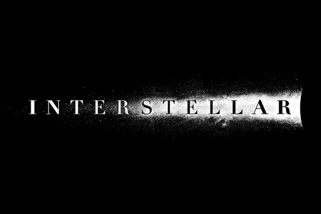 interstellar logo christopher nolan