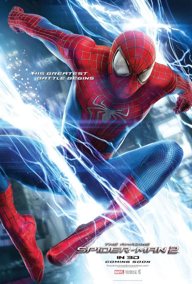 amenaza de electro spider-man poster