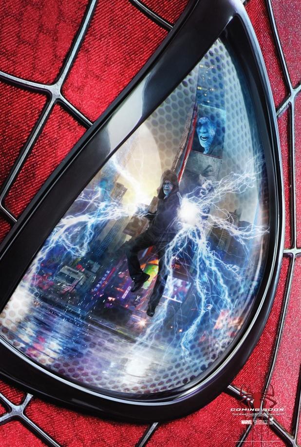 poster amenaza electro spider-man