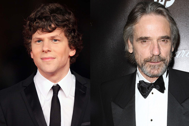 jesse eisenberg jeremy irons superman batman