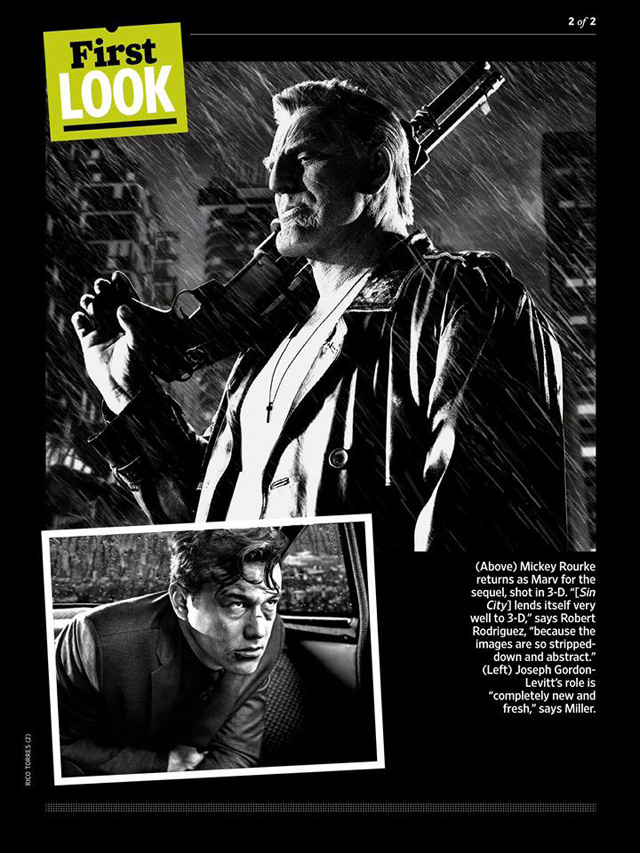 sin city 2 a dame to kill for joseph gordon levitt mickey rourke