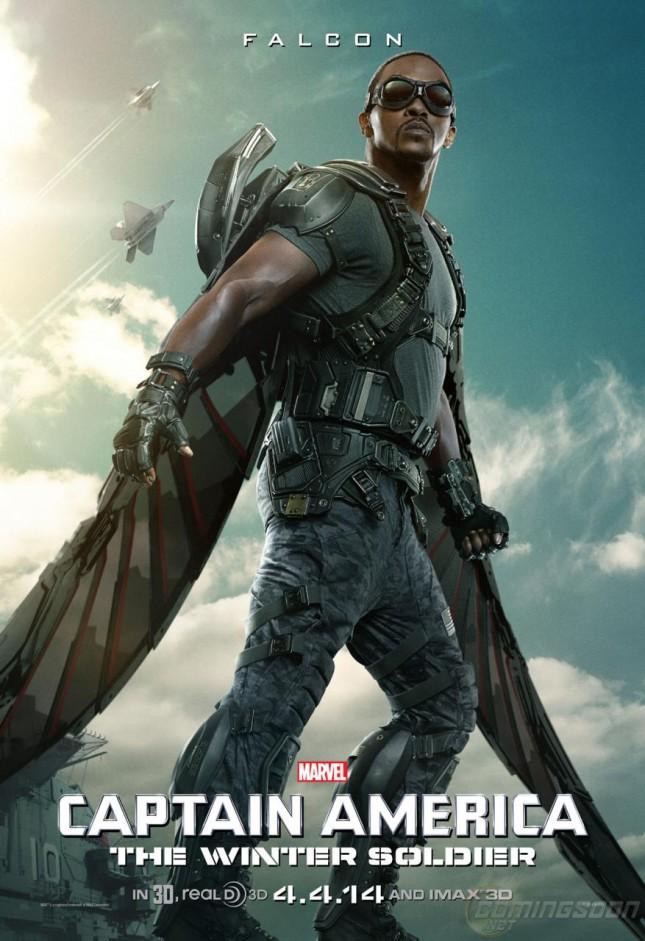capitan america 2 soldado del invierno poster falcon