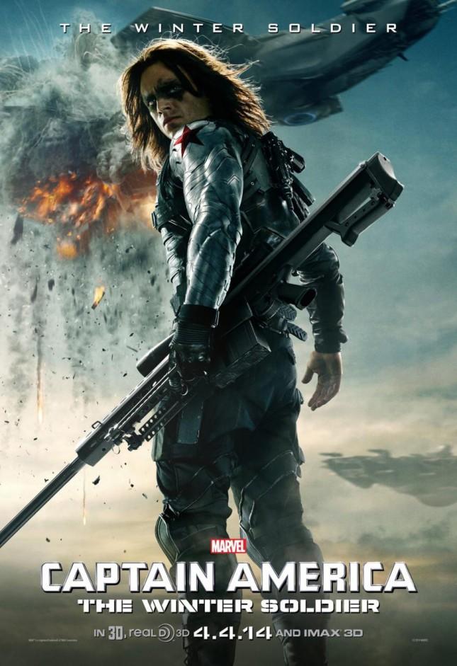 capitan america 2 soldado del invierno poster