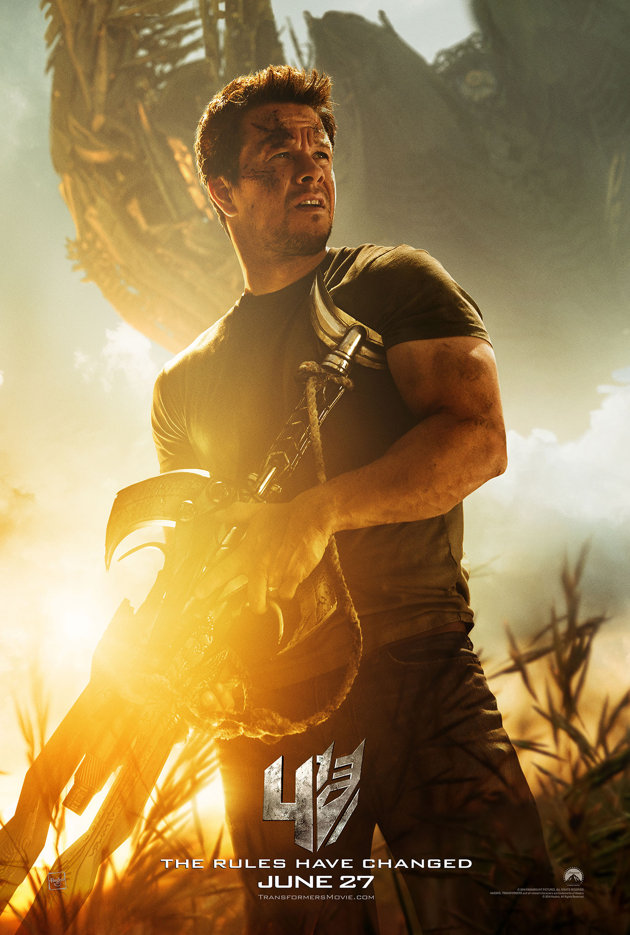 transformers 4 la era de la extincion poster mark wahlberg