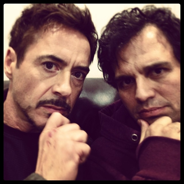 robert downey jr mark ruffalo avengers 2 era de ultron