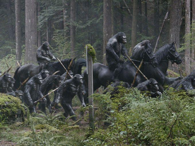 planeta de los simios confrontacion caballo