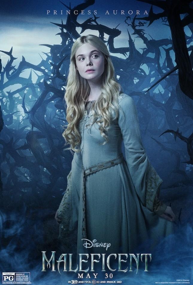 princesa aurora elle fanning malefica poster