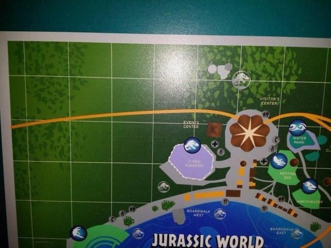 mapa jurassic world