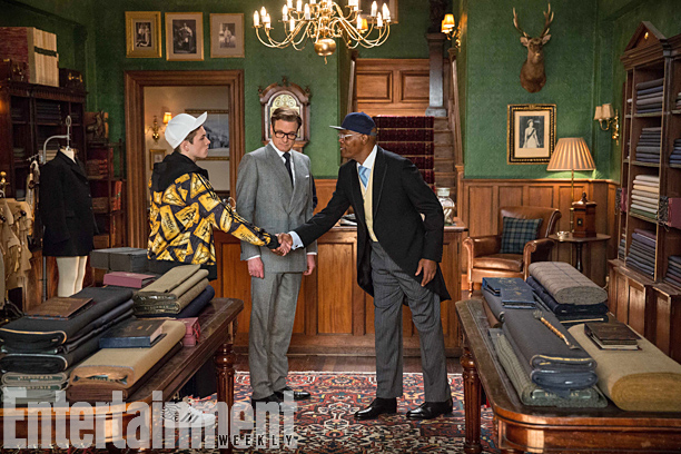 kingsman the secret service taron egerton colin firth samuel l jackson