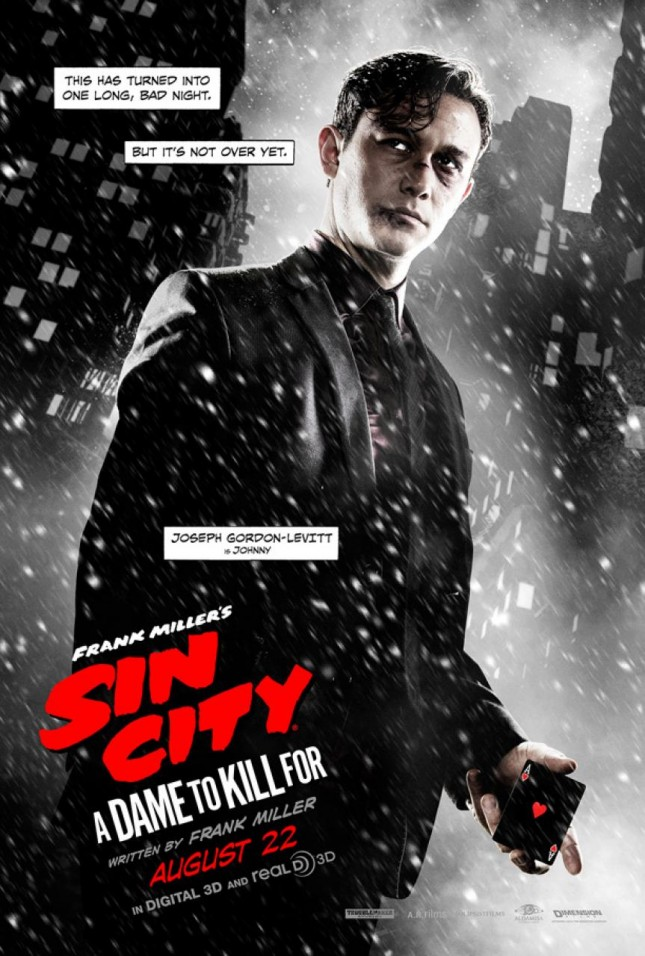 joseph gordon levitt sin city 2 a dame to kill for poster