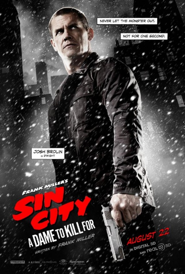 josh brolin sin city 2 a dame to kill for poster