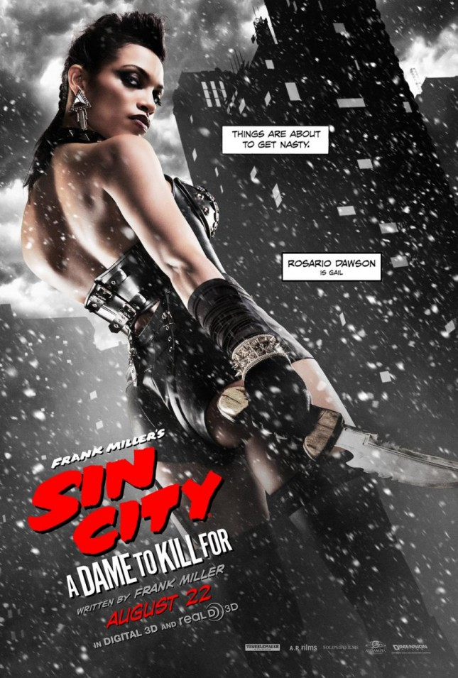 rosario dawson sin city 2 poster a dame to kill for