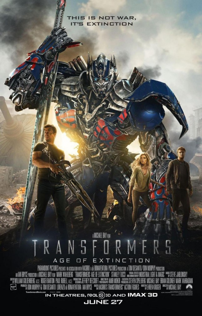 transformers 4 era extincion poster