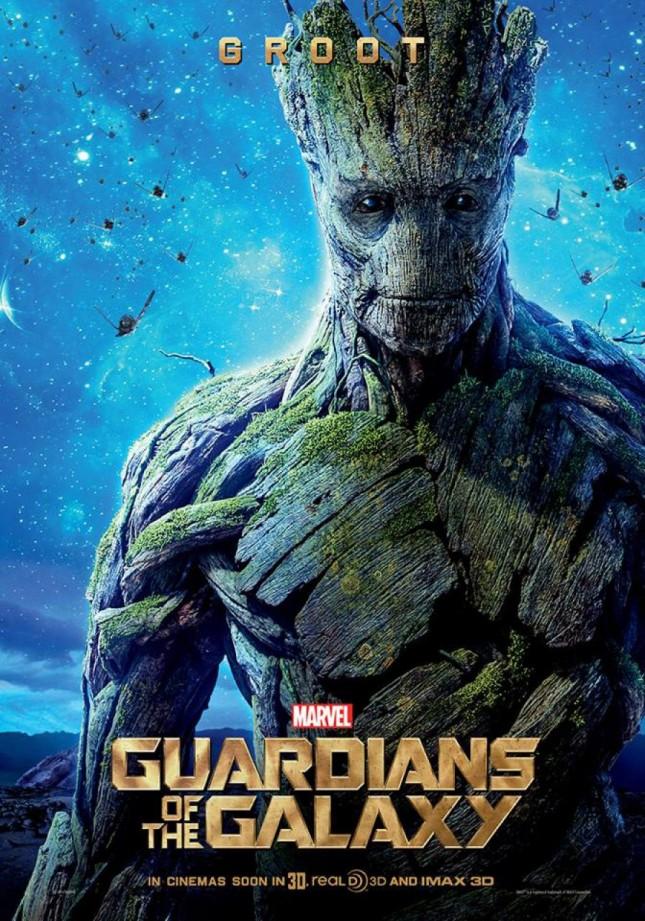 groot guardianes de la galaxia poster