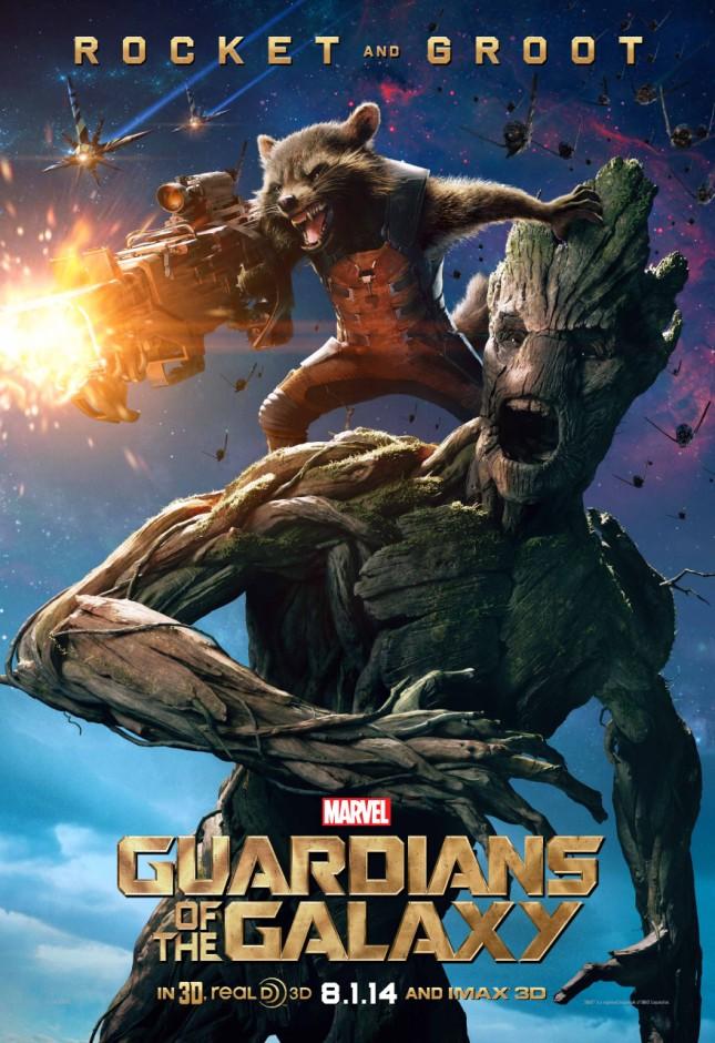 rocket y groot guardianes de la galaxia poster