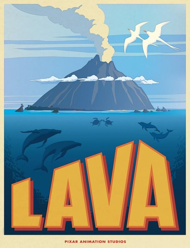 pixar corto lava poster