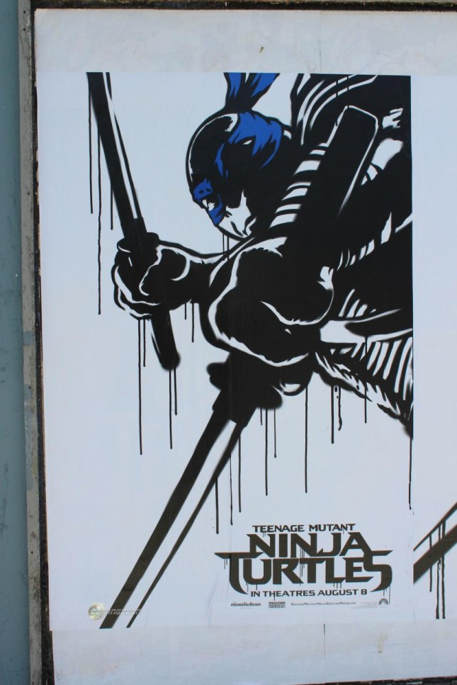 tortugas ninja arte urbano mike johnston