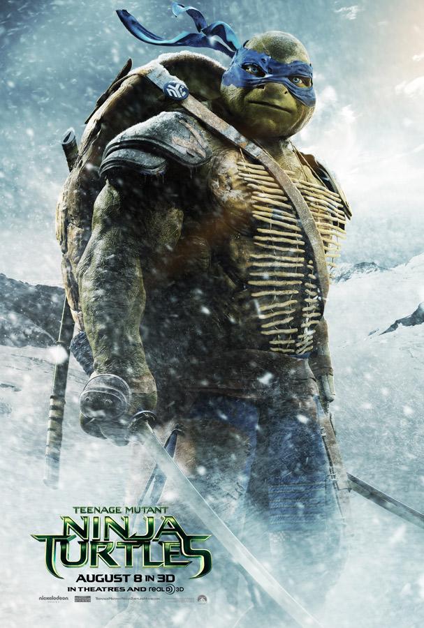 leonardo tortugas ninja poster