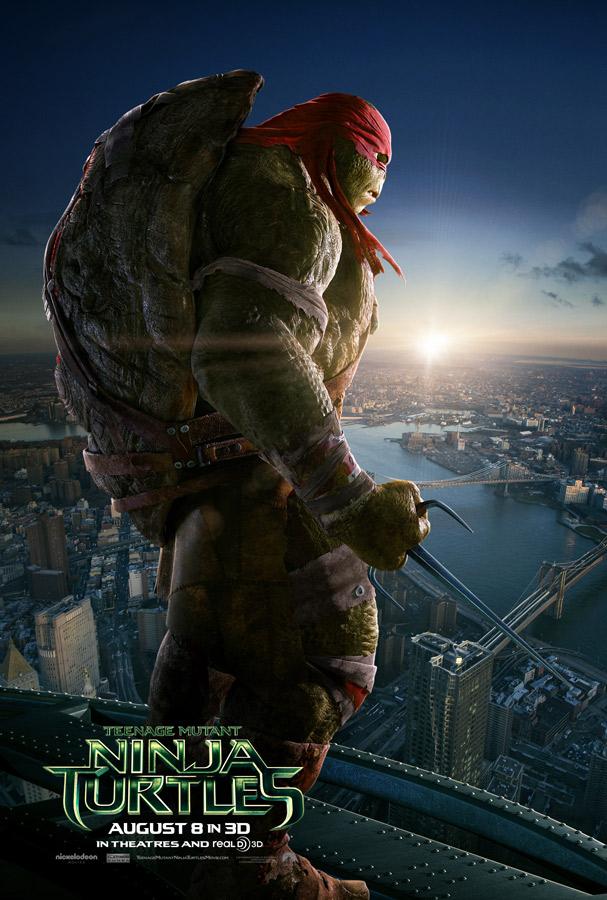 rafael tortugas ninja poster