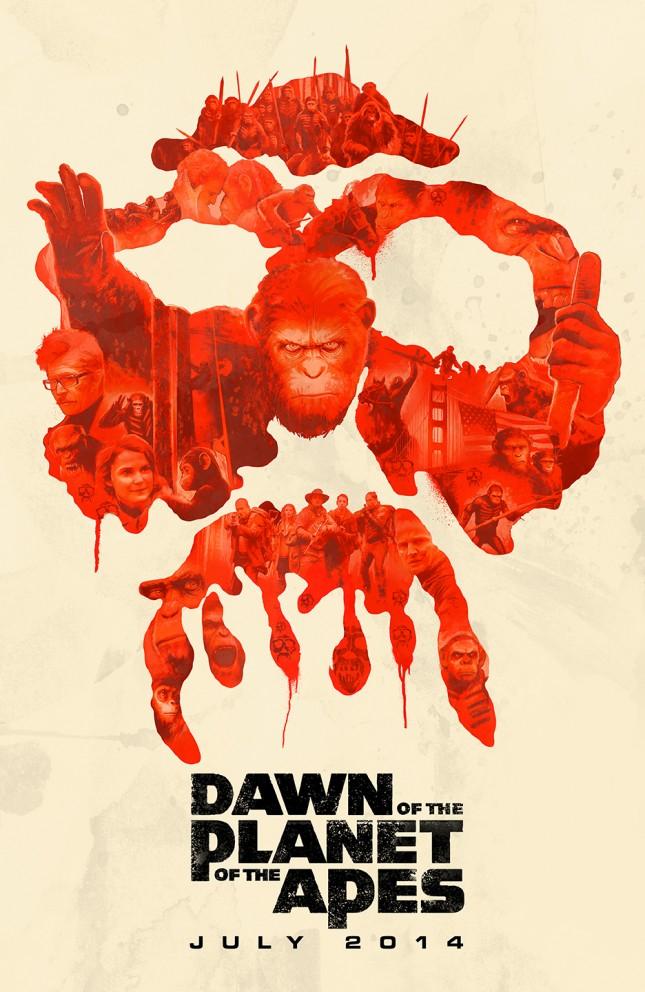 poster janee meadows planeta de los simios confrontacion
