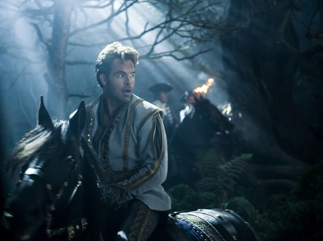 chris pine into the woods