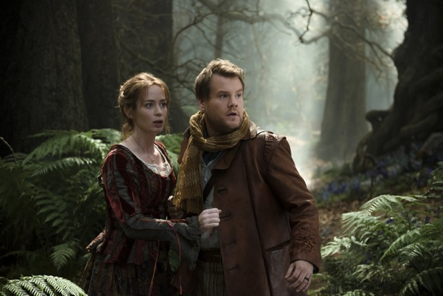 emily blunt james corden into the woods