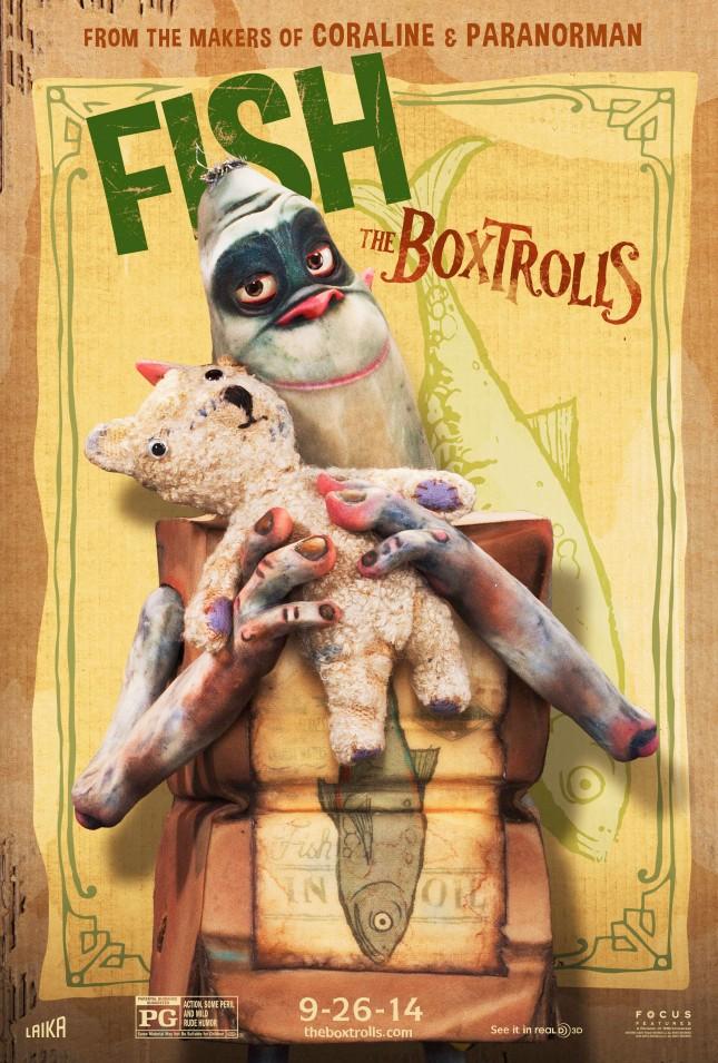 boxtrolls personajes fish poster