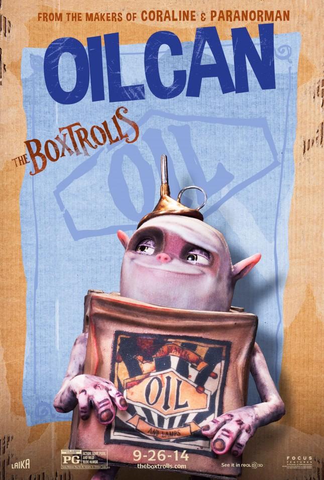 boxtrolls oilcan personajes poster