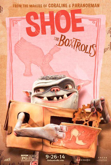 boxtrolls shoe personajes poster