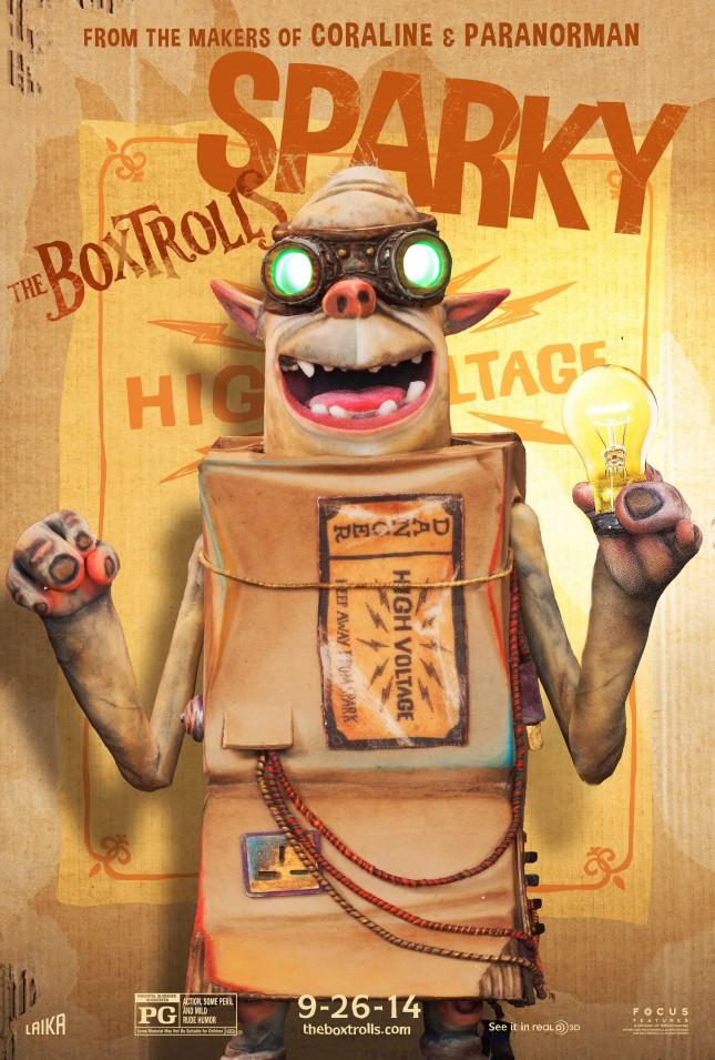 sparky boxtrolls personajes poster
