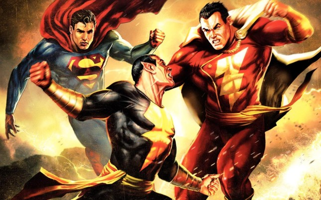 superman shazam black adam