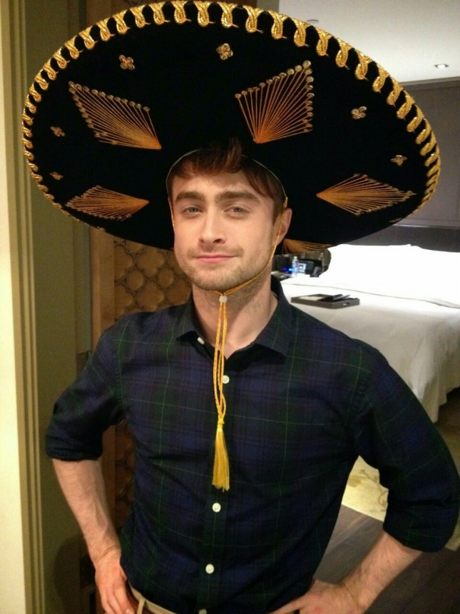 daniel radcliffe sombrero charro mexican hat