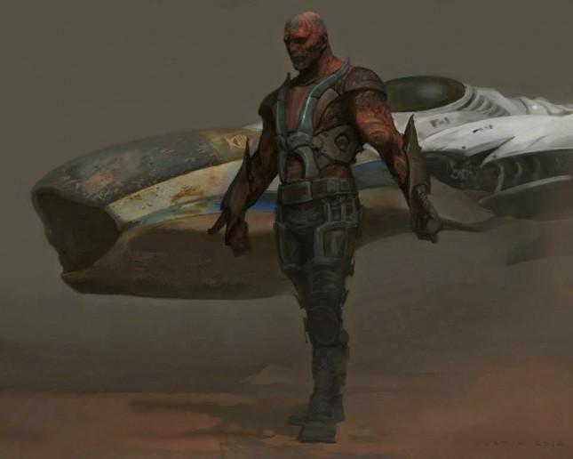 drax guardianes galaxia arte conceptual