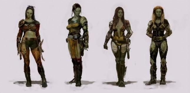 gamora guardianes galaxia arte conceptual