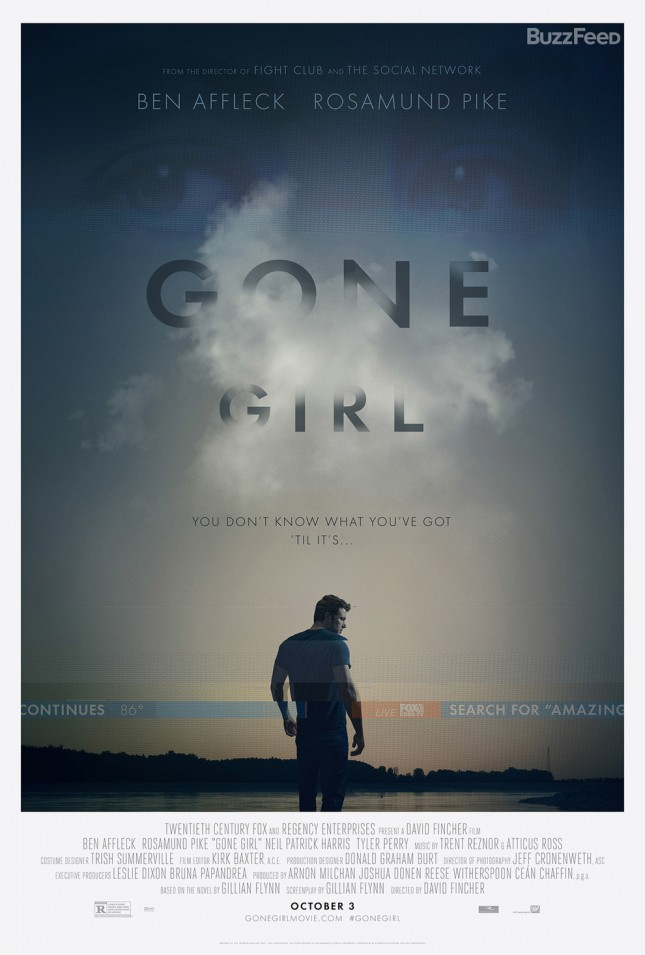 ben affleck gone girl perdida poster
