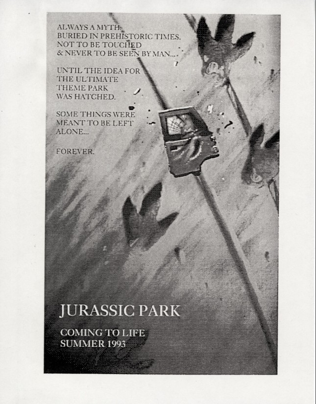 jurassic park arte