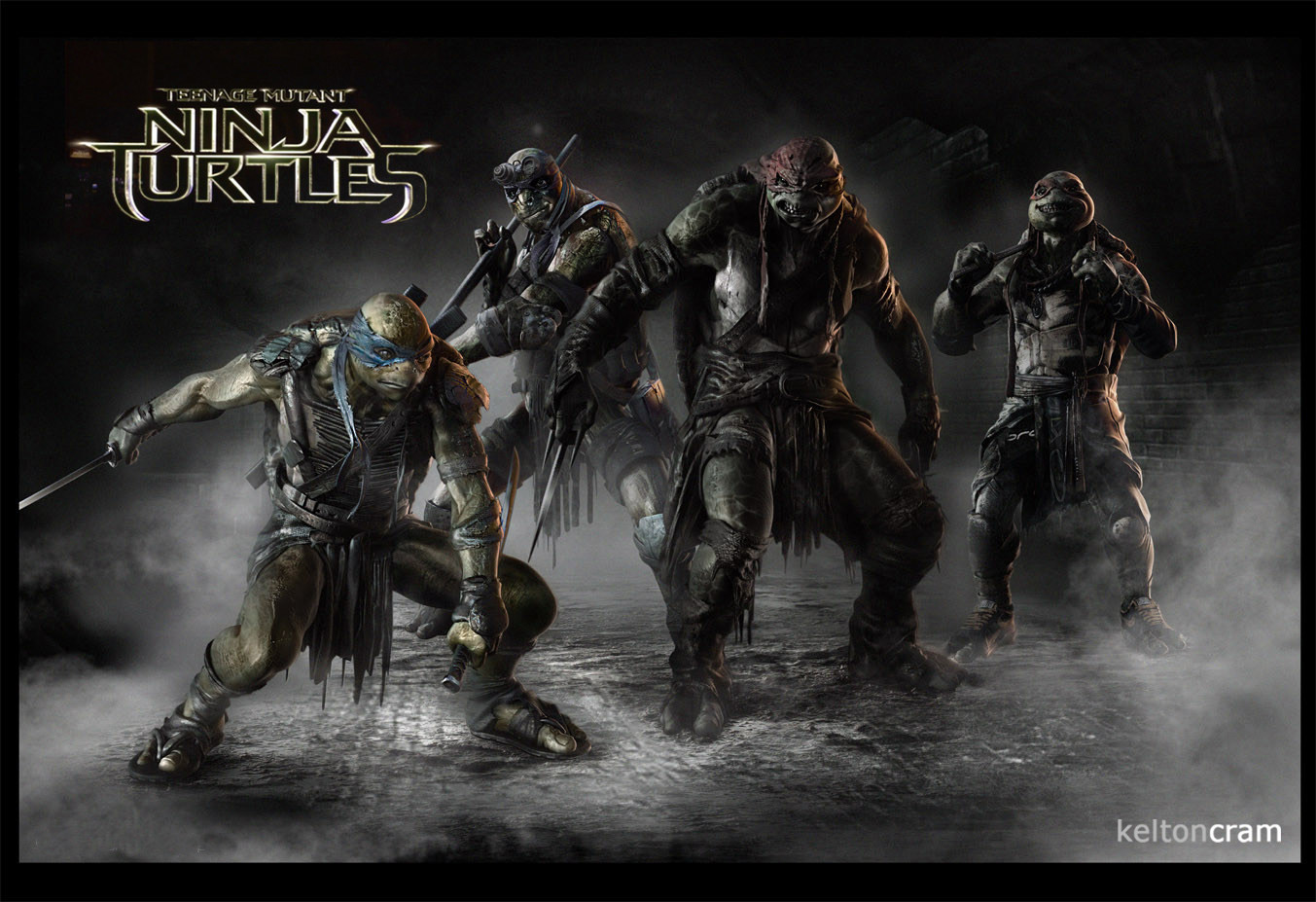 tortugas ninja arte conceptual