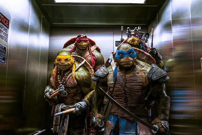 tortugas ninja elevador