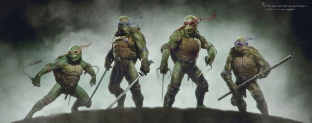 arte conceptual tortugas ninja
