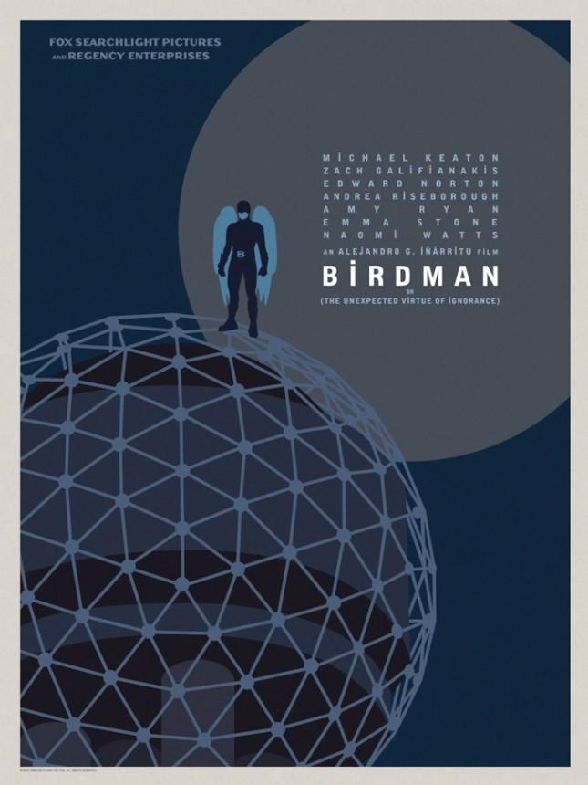 birdman poster flat
